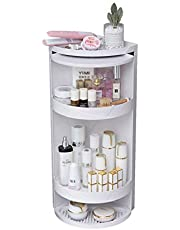 Luggage Cosmetic Cases Cosmetic Storage Box, 360-degree Rotating Cosmetic Dust Cover, Vanity Cosmetic Rack, Bathroom Skin Care Product Storage Rack