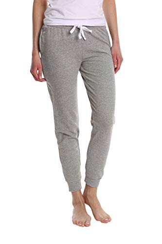 - Blis Women's Super Flattering Casual Jogger with Drawcord and Pockets - Heather Grey - Small
