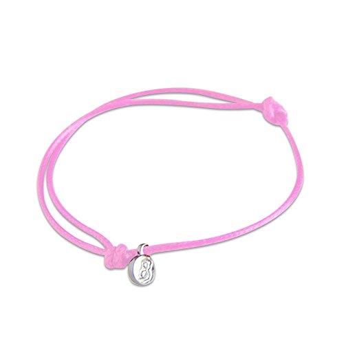 st8te - Adjustable Slim Rope Bracelets for Men & Women. Charm Bracelets with Several Color Finishes. Hair Tie Size, Fit (Light Pink)