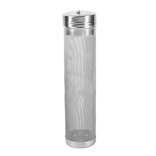 (Stainless Steel Homebrew Beer Filter Strainer Keg Dry Hoping Wine Hopper Home Brew 300 Micron Filter Home Kitchen Coffee Bar Accessory)