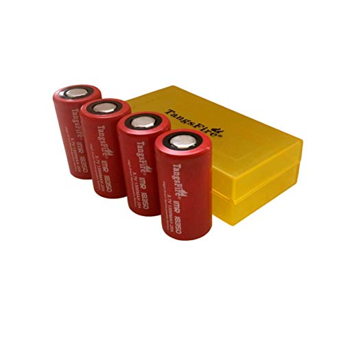 IMR 18350 3.7V Battery Flat Top 1300mAh 20A LiMn Tangsfire Rechargeable Batteries