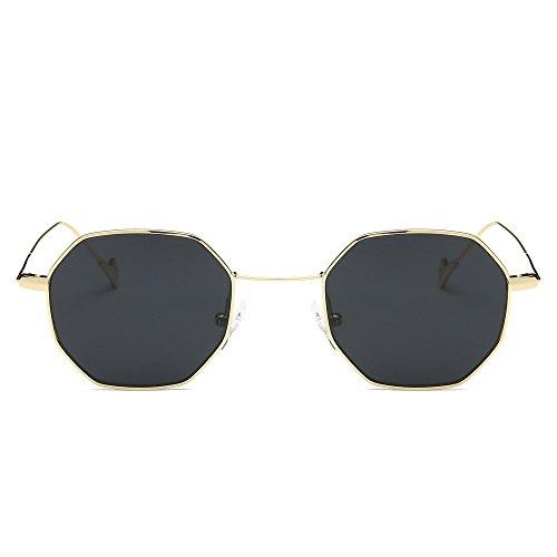 Tiger Ladies Watch Woods (FarJing Womens Men Fashion Metal Irregularity Frame Glasses Brand Classic Sunglasses(One Size,Gray))
