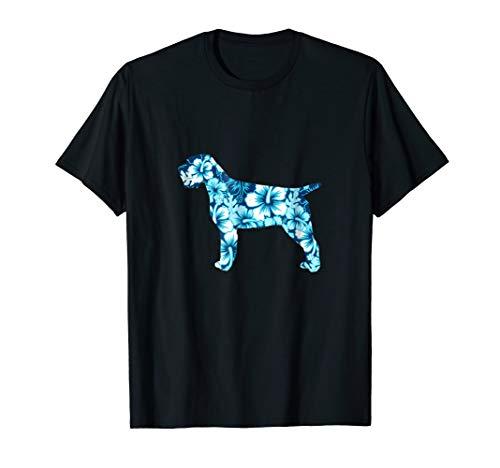 Wirehaired Pointing Griffon Aloha Dog Silhouette T-Shirt Blu