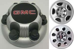 Painted Center (16 17 Inch OEM GMC 6 Lug Silver Painted Center Cap Hubcap Wheel Cover, 1999-2013 # 15067579, 15006331 9596662 959659 9596661 or 9596667 5128 8069 Sierra Savana Yukon Safari 1500)