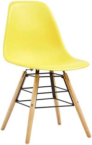 E E-NICES Chaises de Salle à Manger 2 pcs Jaune Plastique
