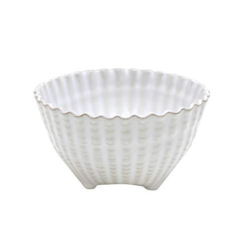 COSTA NOVA Aparte Collection Stoneware Ceramic Seashell Footed Bowl 5.5
