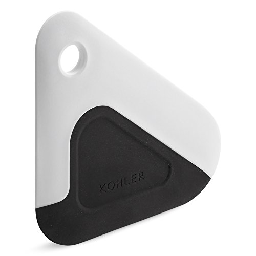 nd Pan Dish Scraper, Silicone and Nylon, Heat Resistant, White and Charcoal (Heat Dish)