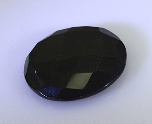 noir onyx pierres précieuses en vrac 1 pièces 28 x 28 mm rondes pierres précieuses facettes noir