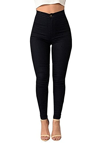 RUHUA Women's Classic High Waist Denim Skinny Jeans