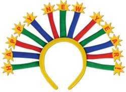 [Happy New Year Headband (Sold by 1 pack of 12 items) PROD-ID : 1907227] (Happy New Year Boppers)
