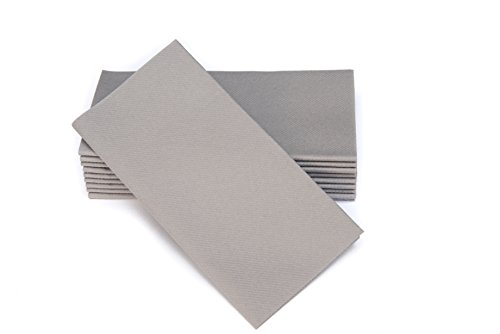 Simulinen Dinner Napkins - Disposable, Gray, Cloth-Like - Elegant, Yet Heavy Duty Soft, Absorbent & Durable - 16