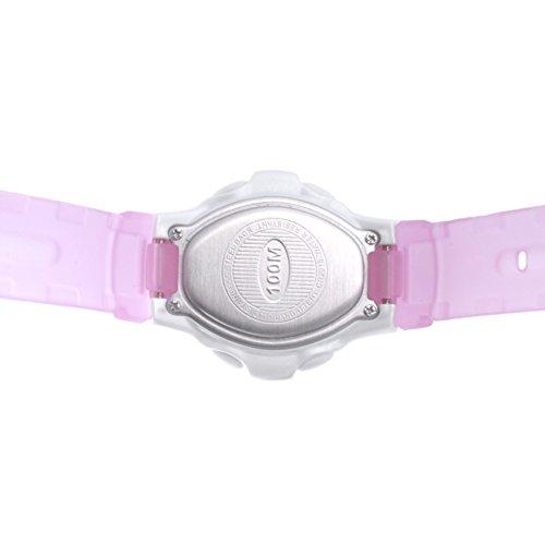 Children's multi-function jelly digital electronic watch, Led 100 m waterproof resin strap calendar alarm stopwatch girls or boys fashion wristwatch-G by CDKIHDHFSHSDH (Image #3)