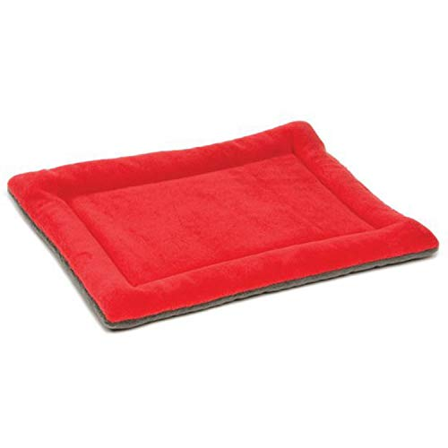 Winter Dog Cat Cushion pet mats Soft Puppy Sleep Bed Kennel Warm Thick Blanket Mattress for Small Medium Large Dogs Bed,Red,104x71x3 cm]()