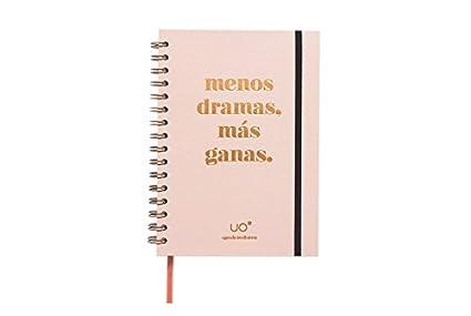 UO AG189MDMG1 - Agenda 2018-2019 semana vista, diseño Less Dramas