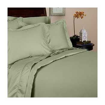 jessica sanders thread count 100 egyptian cotton 4pc queen sheet set sage