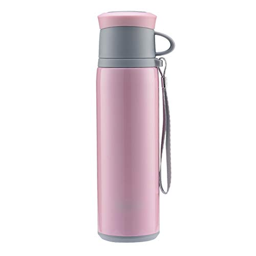 ot Thermal Carafe Vacuum Insulated Jug Coffee Pot Flask Tea Pot Water Pitcher With Lid Handle Travel Cup-Sports Outdoor With Filter Mug FENPING (color : Pink, Size : 350ml) ()