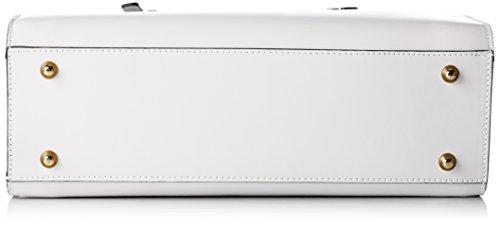 Tosca Blu Damen Viola Henkeltasche, 15x28x35 cm Weiß (White)