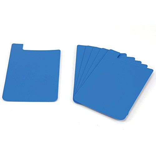 (Heavy Duty Plastic Shelf Markers-Lt Blue-6/pkg)