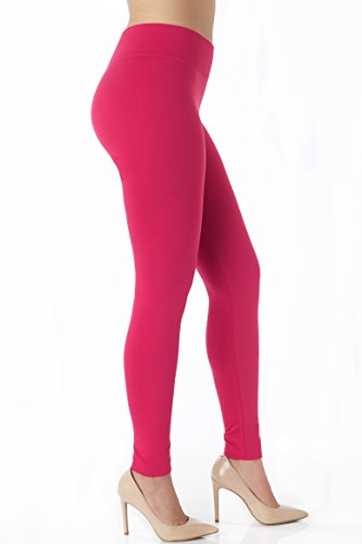 Conceited Fleece Lined Leggings for Women - LFL Magenta Pink - Large/X-Large