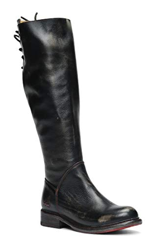 Bed|Stu Women's Manchester Motorcycle Boot, Black Handwash, 9 M US ()