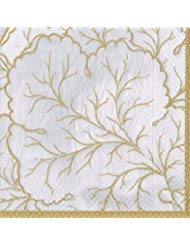 Cocktail Napkins Fall Wedding Ideas Fall Decorations Gilded Majolica Ivory Pk 40]()