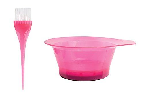 MayaBeauty Tint Bowl Set Tranlucent Pink, Tint bowl with brush, Color: Tranlucent Pink, Dying Hair Kit,