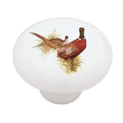 Country Pheasants Decorative High Gloss Ceramic Drawer Knob (Pheasant Knob compare prices)