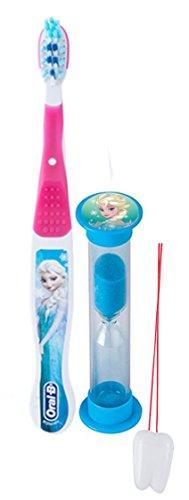 "Disney Frozen ""Elsa"" Inspired 2pc Bright Smile Oral Hygiene Set! Soft Manual Toothbrush & Brushing Timer! Plus Bonus ""Remember to Brush"" Visual Aid!"