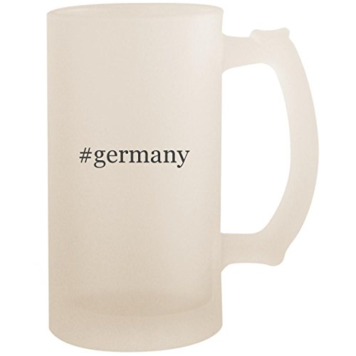 #germany - 16oz Glass Frosted Beer Stein Mug, Frosted