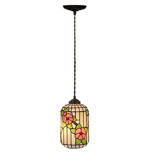 Dobany Tiffany Style Chandelier, Plum Pendant Light, Cafe Bar Ceiling Light, E27