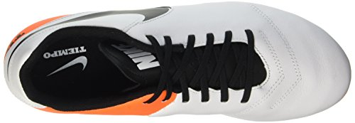 de Orange Total Running Fg Homme White Chaussures Nike Genio Tiempo II Black Blanc wxq7AX1Z
