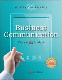 business communication process and product 8th edition answer key