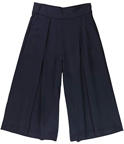 Ralph Lauren Womens Pleated Casual Wide Leg Pants, Blue, 6