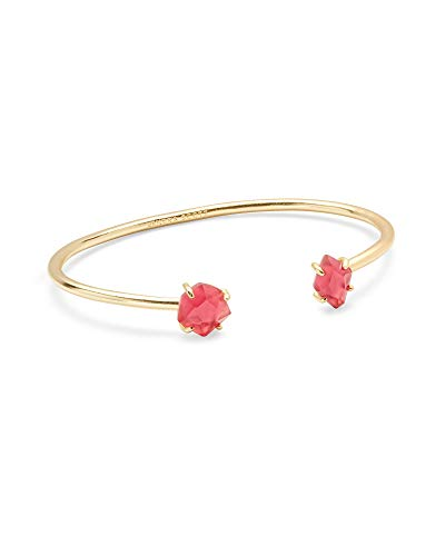 Kendra Scott Merida Gold Pinch Cuff Bracelet in Berry Illusion