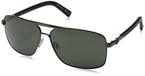 VonZipper Metal Stache Oval Sunglasses, Copper Gloss Tort Satin/Vintage Grey, 62 - Stache Sunglasses