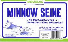 Douglas Common Sense Polyester Minnow Seines, 4 x 4-Feet x 1/8-Inch, Outdoor Stuffs