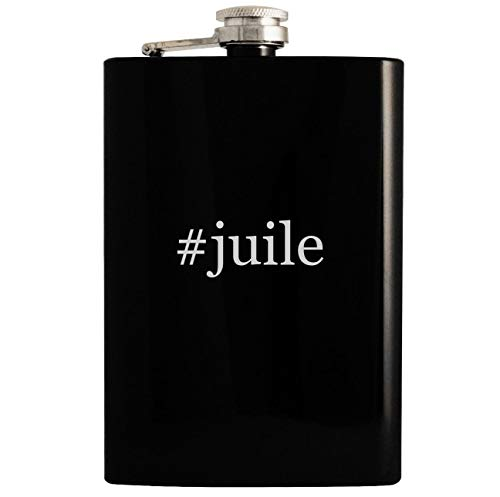 Price comparison product image #juile - 8oz Hashtag Hip Drinking Alcohol Flask, Black