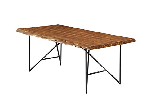 Alpine Furniture 1968-01 Dining Table, Light Walnut ()