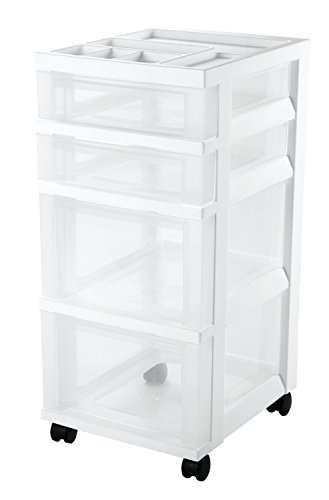 Review IRIS 4-Drawer Cart with Organizer Top and Casters, White. 2-Pack By IRIS USA, Inc. by Inc. IRIS USA