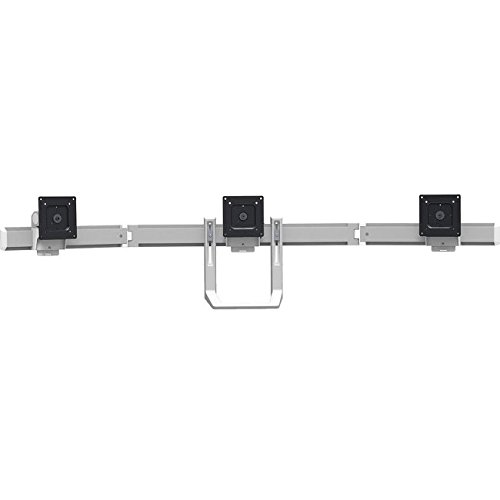 Ergotron 98-009-026 HX Triple Monitor Bow Kit in Polished Aluminum for 2 - 10.2 lbs Monitors