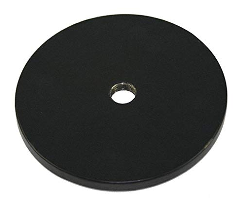 Weighted Base, Black, 3-3/4'' x 3-3/4'' x 1/8'', 0.7 lb, Iron pack of 5