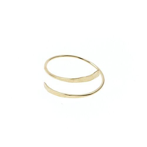 PINJEAS New Bypass Thumb Ring Handmade 14k Gold Filling Modern Simple Minimalist Jewelry for women Mother's Day gift -