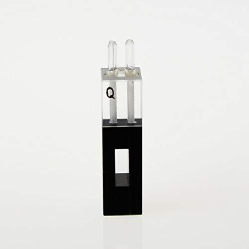 Quartz Flow Cuvette with Glass Tube 480ul 10mm Path Length for UV VIS Spectrophotometer