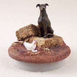 Conversation Concepts Miniature Greyhound Brindle Candle Topper Tiny One ''A Day on the Farm''