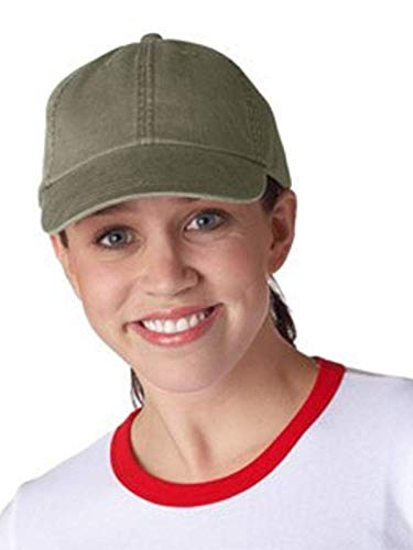 Adams 6-Panel Pigment-Dyed Classic Cap, Olive, One Size ()