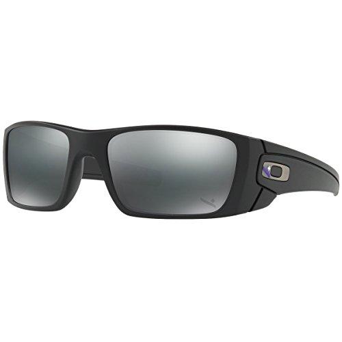 Oakley Men's Fuel Cell Non-Polarized Iridium Rectangular Sunglasses, Blue Black, 60 - Cell Oakley Full