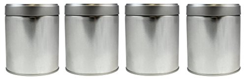 4-Pack Tea Storage Tins, Twist Lock Top Tea Storage Tins (Set of 4) (Loose Leaf Tea Storage Containers compare prices)