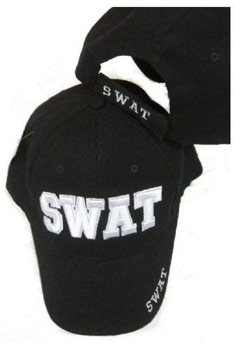 Swat Embroidered Adjustable Hat Black Ball