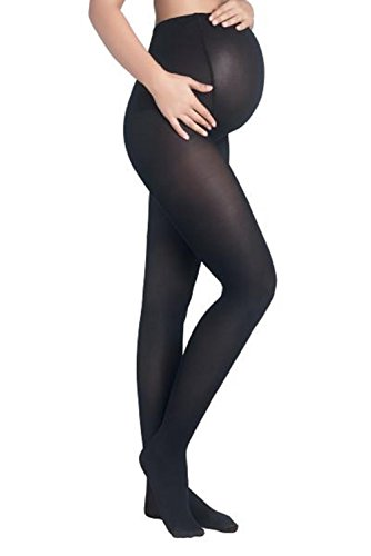 (Mothers Essentials 40Denier OPAQUE TIGHTS Women's Maternity Pantyhose (black, S/M))