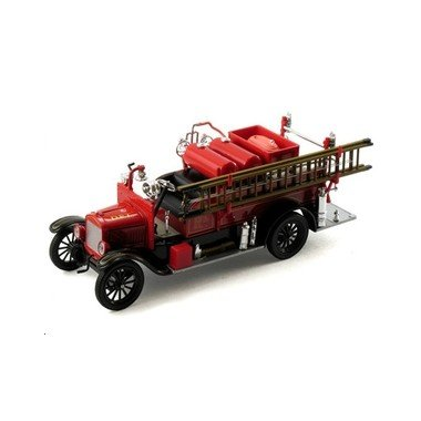 1926 Ford Model T Diecast Detroit Fire Truck, Red & Black, 1:32 Scale